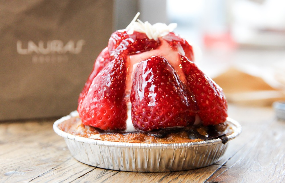 Strawberry tart at Laura's Bakery, Copenhagen