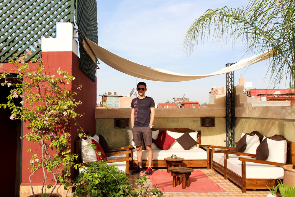 Terrace at Riad  l'heurre d'ete