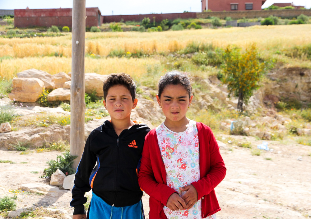 Children in the Atlas Mountains, Marrakech