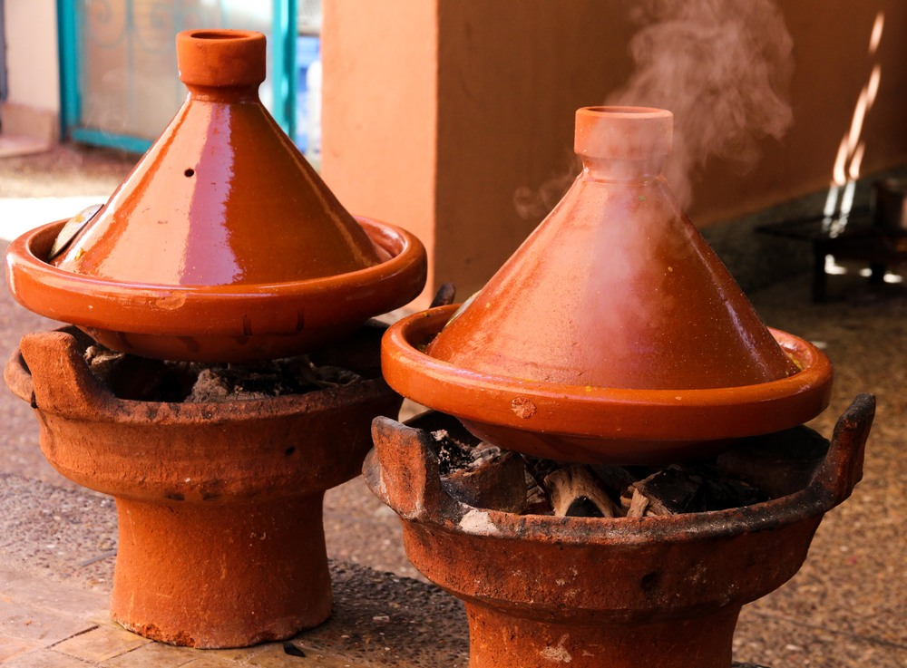 Tagines cooking, Amal Women's Training Centre & Restaurant, Marrakech
