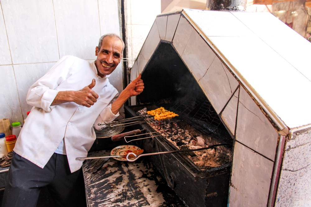 The friendly chef at Chez Abdelhay, Marrakech