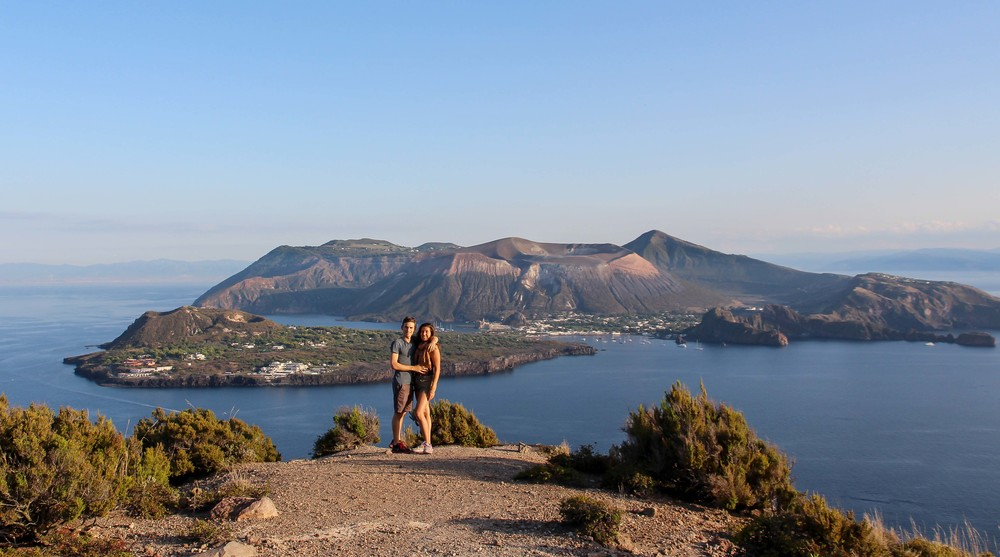View of Vulcano from 'Observatorio' in Lipari