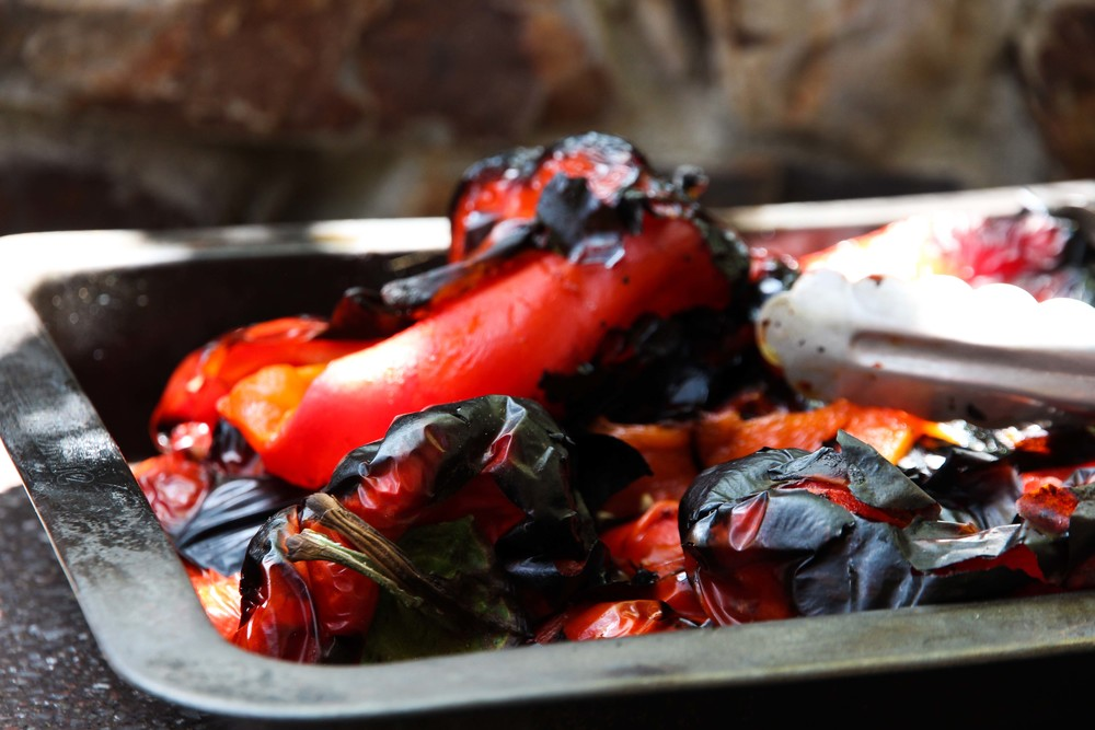 Blistered chargrilled capsicum