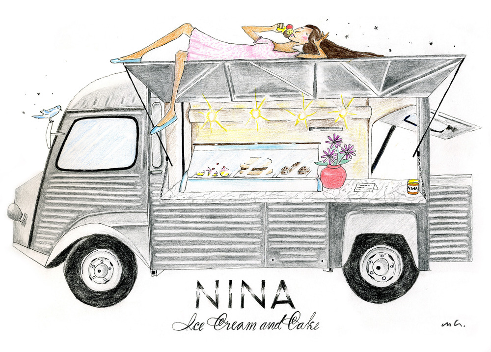 Melissa Greenwood Drawing Nina Icecream And Cake 11.7