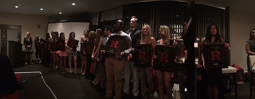 2014 Spirit Program Seniors are presented with their awards, many of which were for four years of participation.