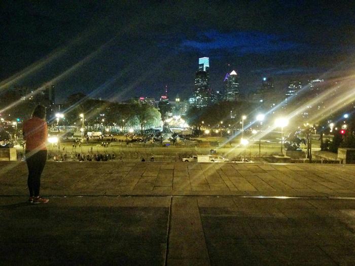 atop the Philadelphia Museum