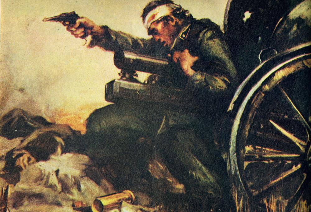 Il S.Ten. Giulio De Amicis del 13° Artiglieria da Campagna ricordato in una cartolina del reggimento; nell'agosto del 1915 si sacrificò con tutti i suoi Artiglieri in Val Parola: avuti distrutti tutti i pezzi dai grossi calibri nemici, cadde nel tentativo di difenderli dall'assalto delle fanterie austroungariche.