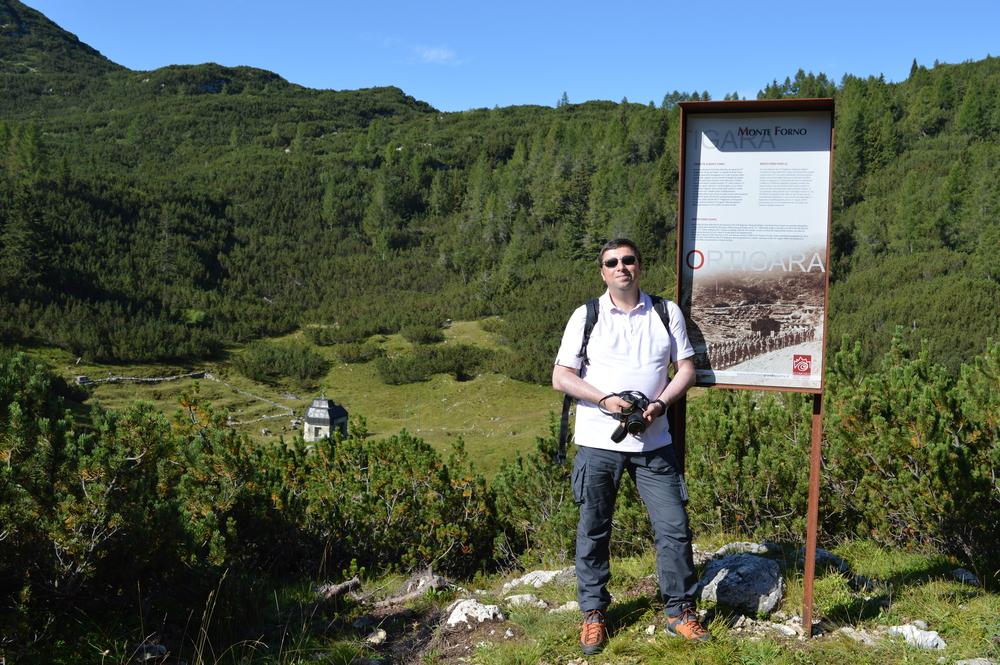 La Fornokapelle di Busa della Pesa sull'Altopiano di Asiago con l'ex piccolo cimitero militare degli Stiriani del 27° I.R. Reggimento di Graz