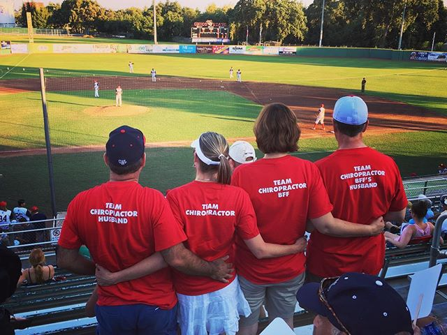 What team do you know of that always has your back? Chico Heat knows, and that's our very own Dr. Michelle!  The Chico Heat Official Team Chiropractor, and let's not forget her awesome support crew enjoying a great game! #reachyourpotential #health #chico #chicospineandwellness #chiropractic #chiropractor #chicoheat #chicoheatbaseball