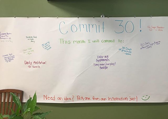 We are back at it! Join us as our staff & patients choose something to #commit30