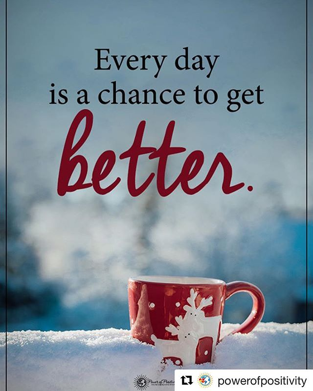 #Repost @powerofpositivity (@get_repost) ・・・ Tag someone who needs to read this.  Every day is a chance to get better. #powerofpositivity  #inspirationalquotes #quotes #positivethinking #inspiration #motivation #quotesoftheday #instaquotes #sayings #words#quotation #motivationalquotes #lifequotes #qotd #quotestagram #lifecoach #inspire #positivity #positivethoughts #life #like #love #follow