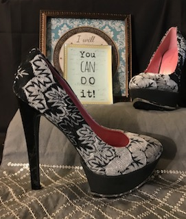 Shoe Republic La multi (black white grey) platforms print, Size 8 $39.97
