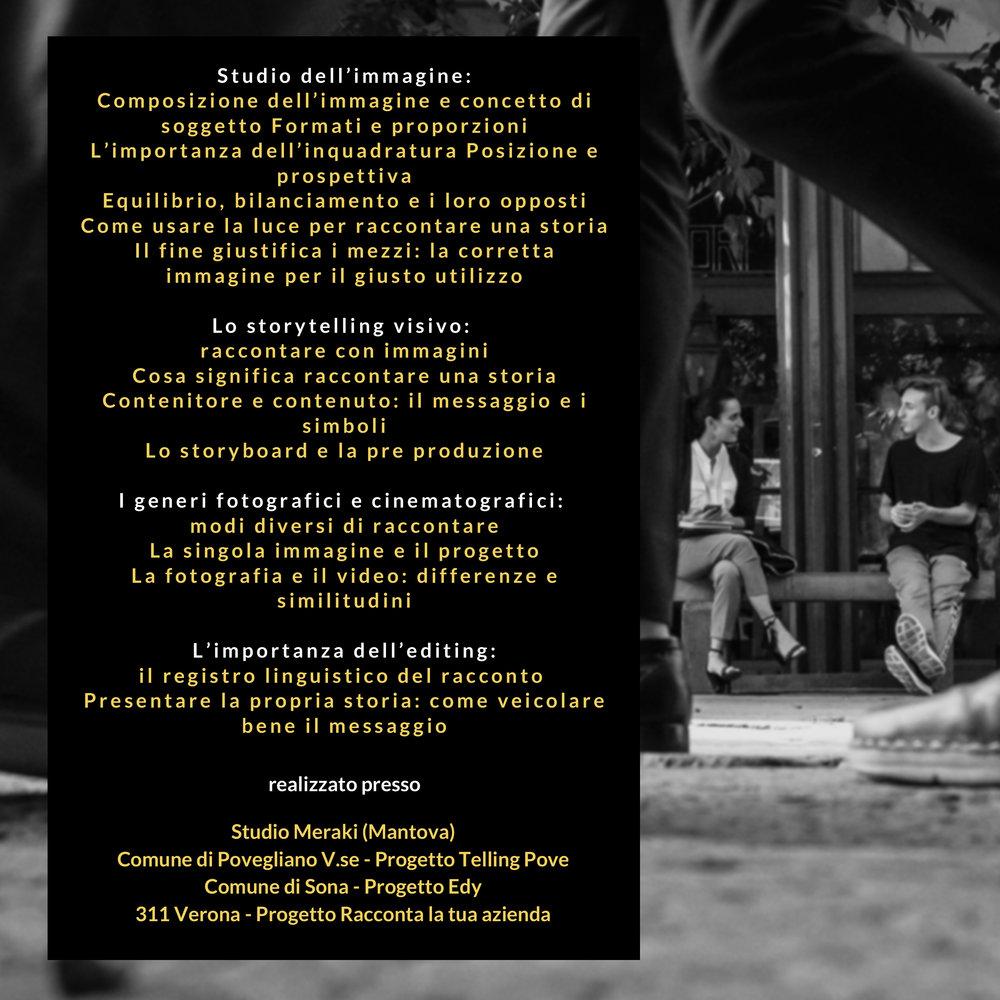 STUDIO E CREAZIONE DELL'IMMAGINE - un corso di Mirko Fin