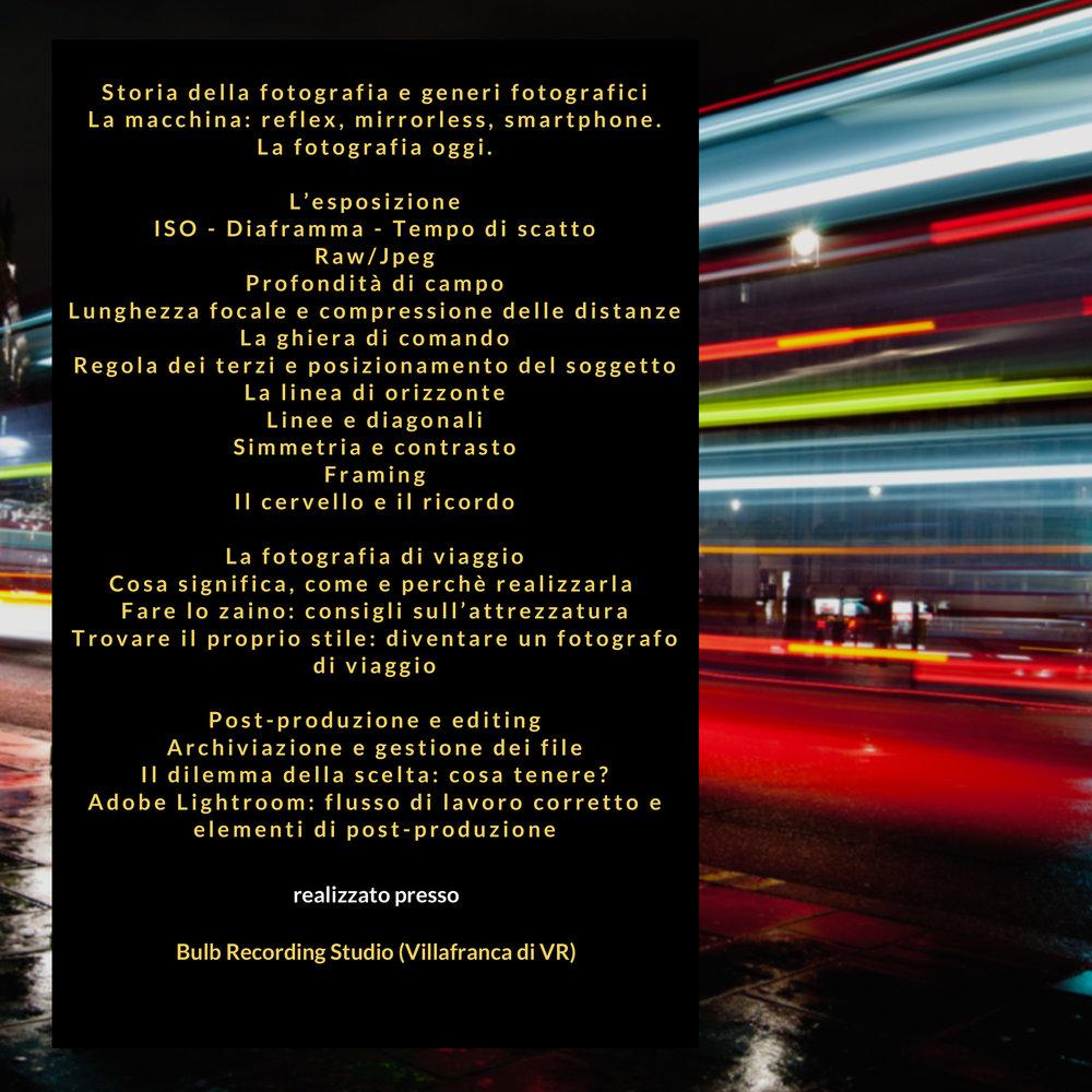 CORSO DI FOTOGRAFIA DI VIAGGIO - in collaborazione con Agenzia Gabritour