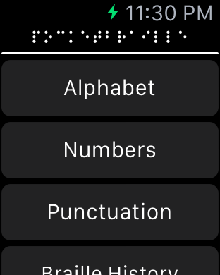 PocketBraille on Apple Watch