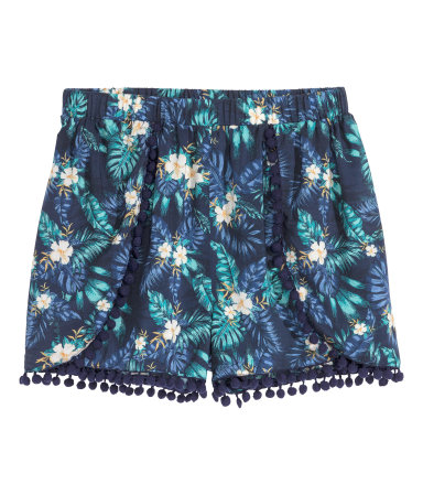 pompom trimmed shorts