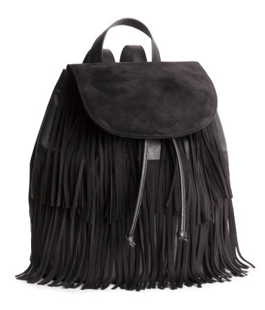 h&m backpack  with fringe