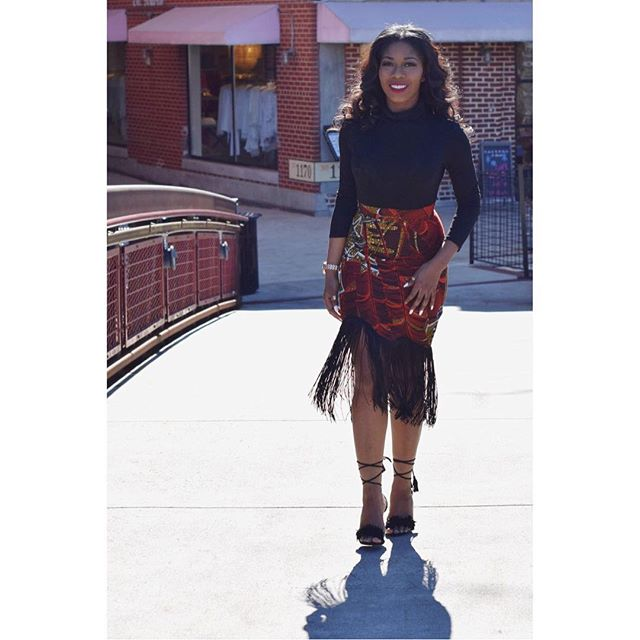 #TBT Rocking the Ankara fringe skirt I made myself. Ask about me. Lol 💁🏾 | 📷: @childish_samsino