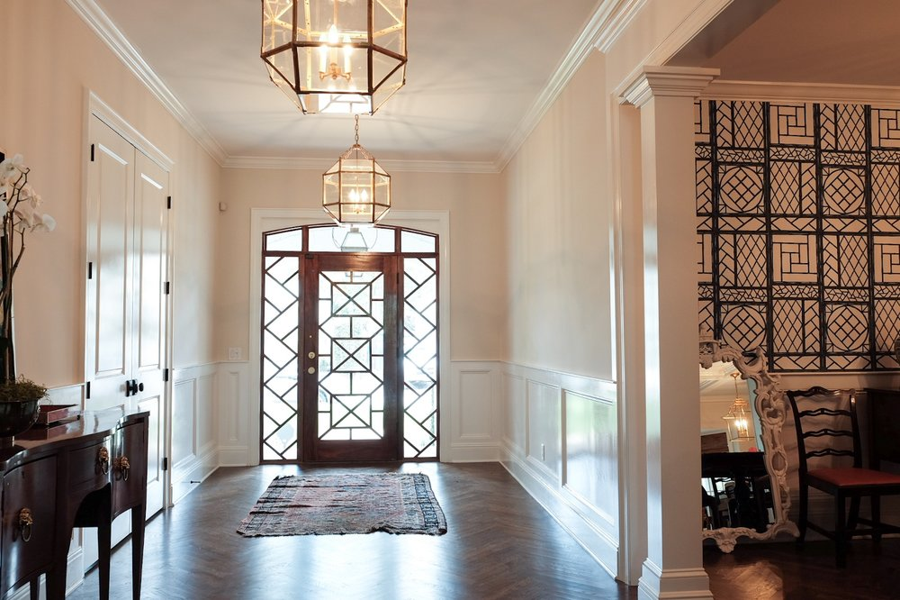 Custom Wainscott and Chippendale Door | Tampa, FL