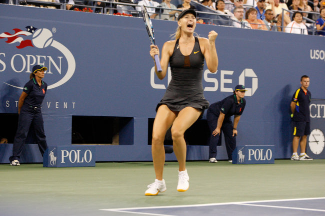The New York Times    Sharapova Finally Returns to Quarterfinals  When Maria Sharapova and Nadia Petrova met at the net for the coin toss before their match Sunday night, it was hard to tell which player was more focused.
