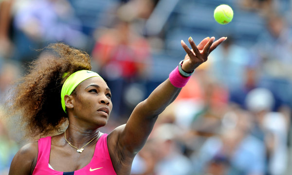 The New York Times    From First Shot to Last, Williams Is Dominant  Serena Williams shouts, shrieks, squats, slouches, grimaces, huffs and puffs, grits her teeth and purses her lips and, on occasion, stares into her racket as if it were a mirror magnifying every little wrinkle and imperfection. And this is when she is winning. Such is the agony and the ecstasy of Williams.
