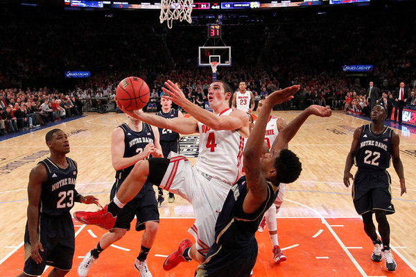 "The New York Times   OHIO STATE 64, NOTRE DAME 61: Ball-Swiping Buckeyes Rally to Beat the Irish  Shannon Scott said he and his fellow Ohio State guard Aaron Craft share something of a sixth sense, what he calls a ""turnover sense."" When one of them harasses an opponent, the other can sense the turnover coming."