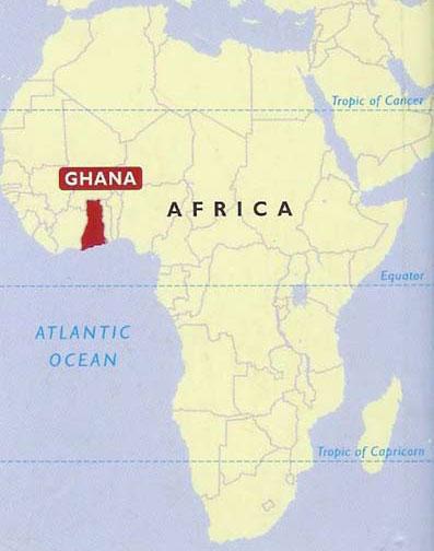 ghana map in africa