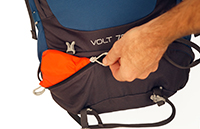 This  Osprey Bag  means no easy access & many pockets that don't lock.
