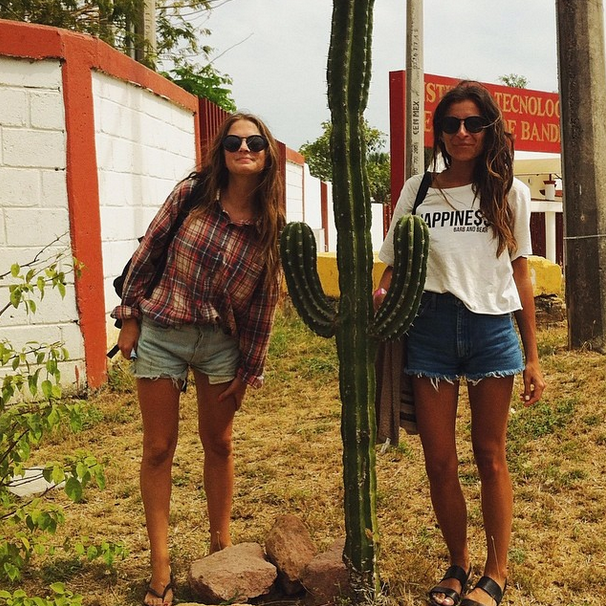 Me  and  Mcgee  on a cactus crawl in sunny Sayulita, Mexico.