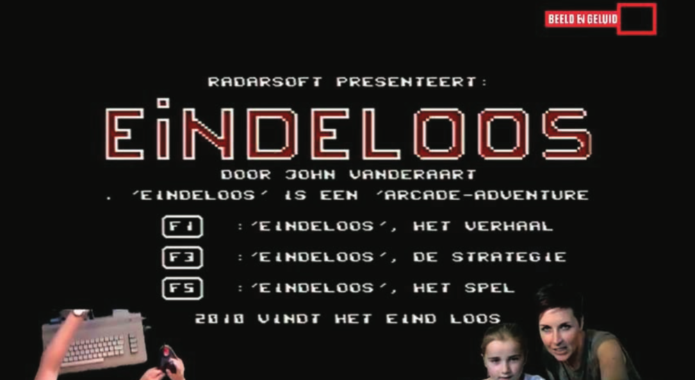 "Screenshot fromYouTube video ""lets play test 1 Eindeloos,"" Channel Let's Play @ Beeld en Geluid, https://youtu.be/uTp-BxOVDMk"