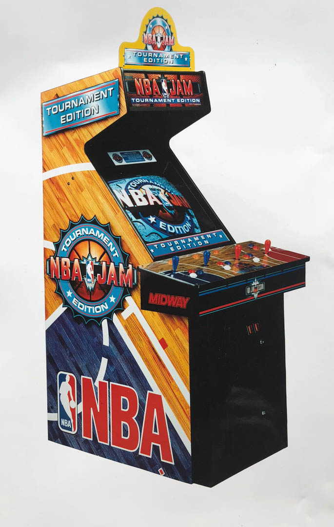 Documentary photography of NBA Jam promotional material and photographs