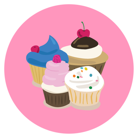 "Cupcake Ipsum is a fun twist on standard Lorem Ipsum, and makes working with placeholder text much ""sweeter"" than usual."