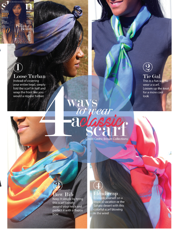 Sheen Magazine - 4 Ways To Wear A Classic Scarf — Cedric Brown Collections