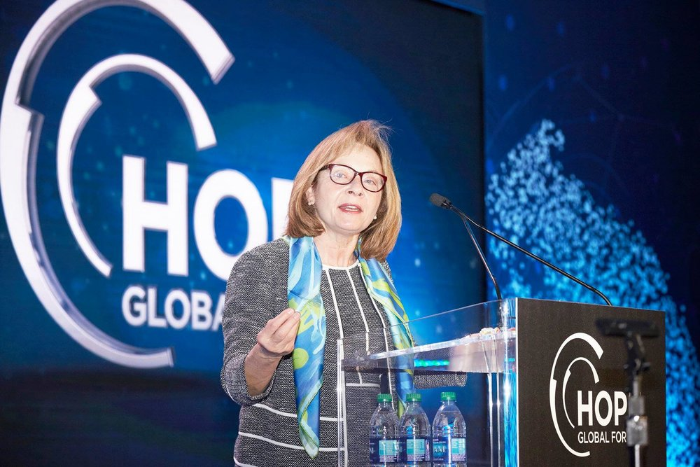 CIT Group INC CEO Ellen Alemany Wears A Cedric Brown Collections Scarf At the 2018 Hope Global Forum