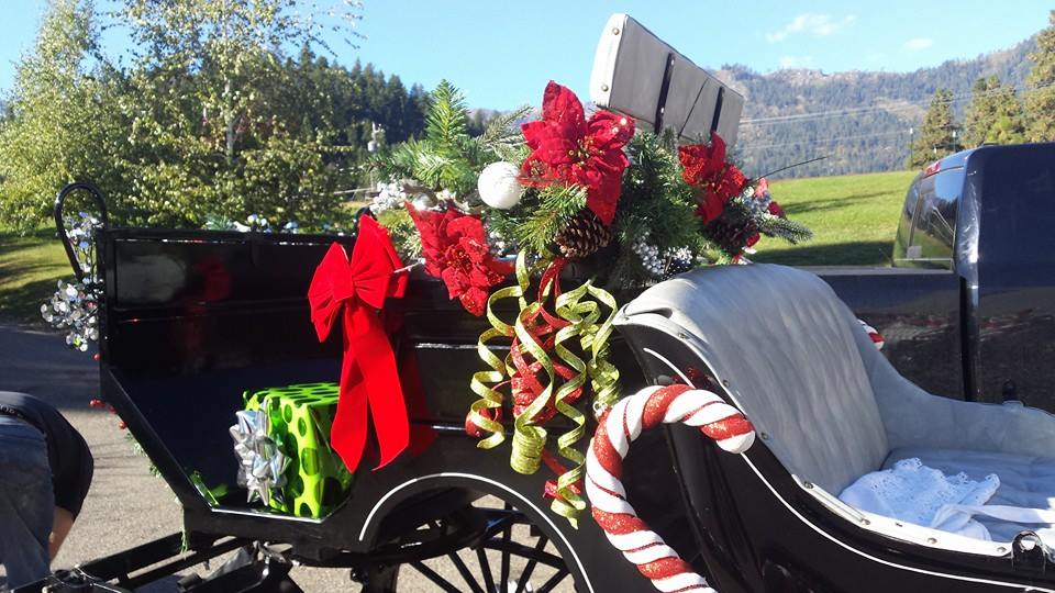Decorating the carriage for Santa was a lot of fun!