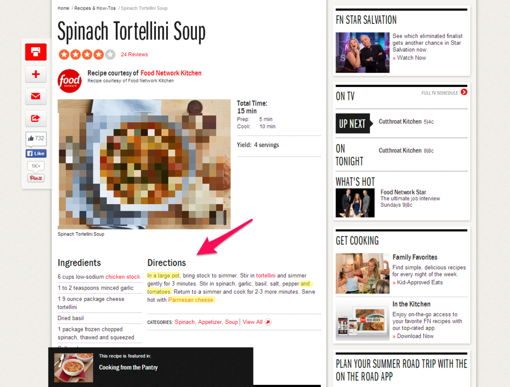 Oh, those naked tortellini! What's this world coming to? But seriously, check out the helpful arrows and highlights. I might find this useful somewhere along the line.
