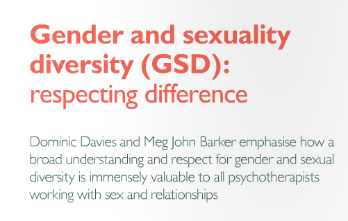 Gender and Sexuality Diversity (GSD) in the Psychotherapist Summer Issue