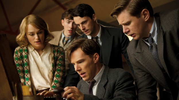 Benedict  Cumberbatch, Keira Knightly and Matthew Goode with an Enigma Machine in  The Imitation Game