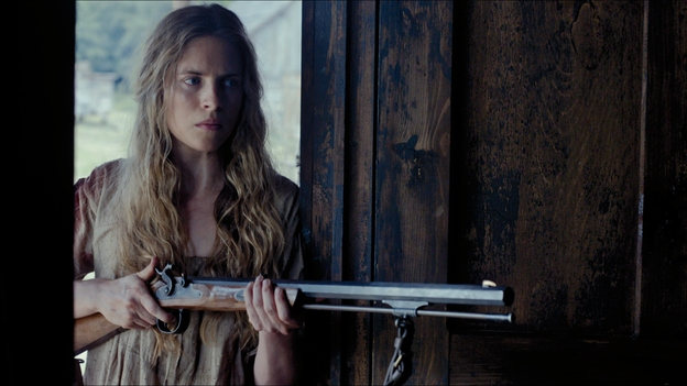 Brit Marling in The Keeping Room.  Photo from BFI.org.uk