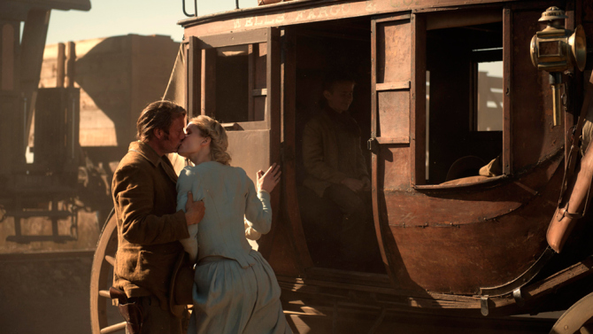 Mads Mikkelsen and Nanna Øland Fabricius as Jon and Marie in  The Salvation .