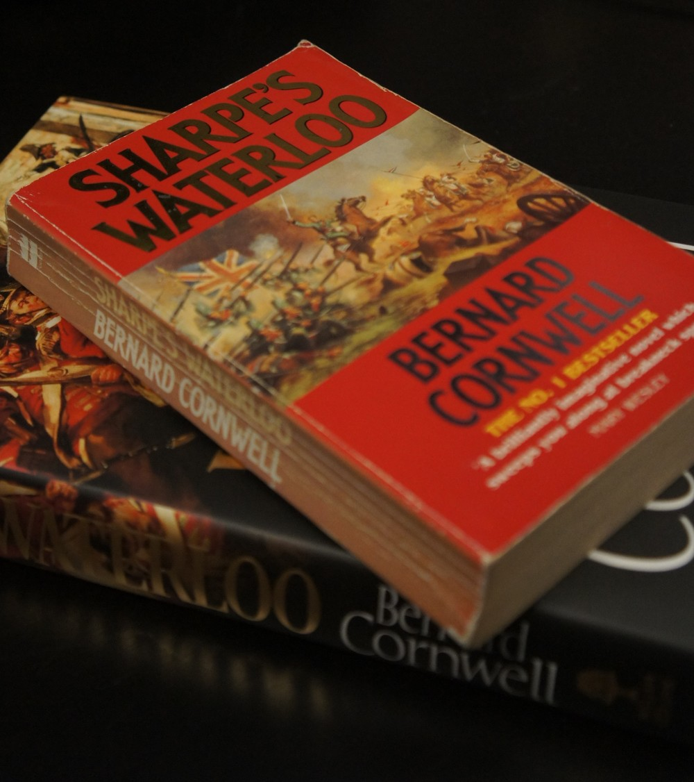 My well thumbed copy of Sharpe's Waterloo