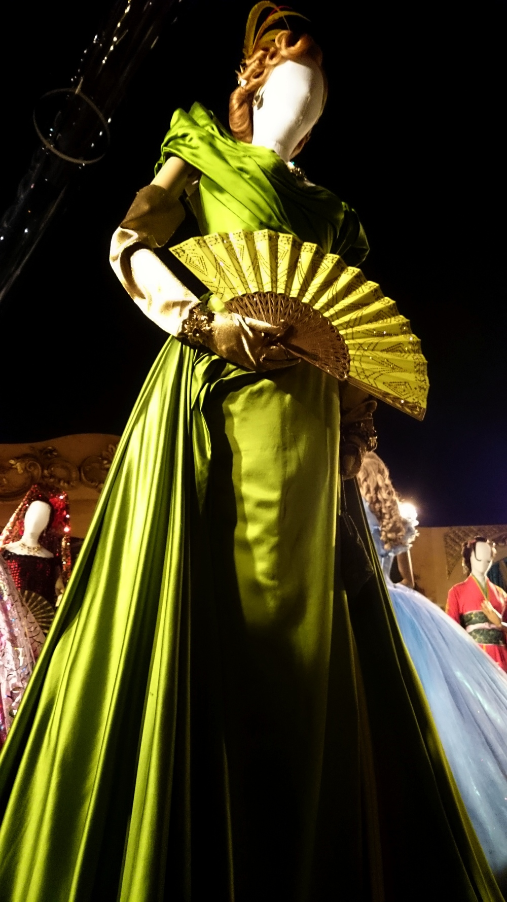 Lady Tremaine's envy green ball gown