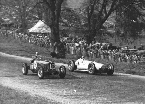 Dick passes Billy Cotton's ERA - Donington GP 1938