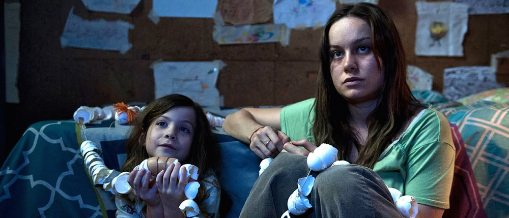 Jacob Tremblay as Jack and Brie Larson as Ma in  Room