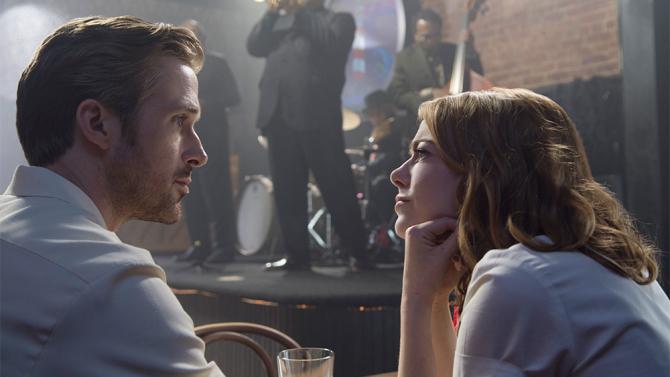 Ryan Gosling as Seb and Emma Stone as Mia