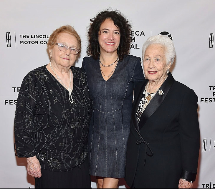 Director Fern Pearlstein (centre) with two of her subjects Elly Gross (left) and Rene Firestone (right)