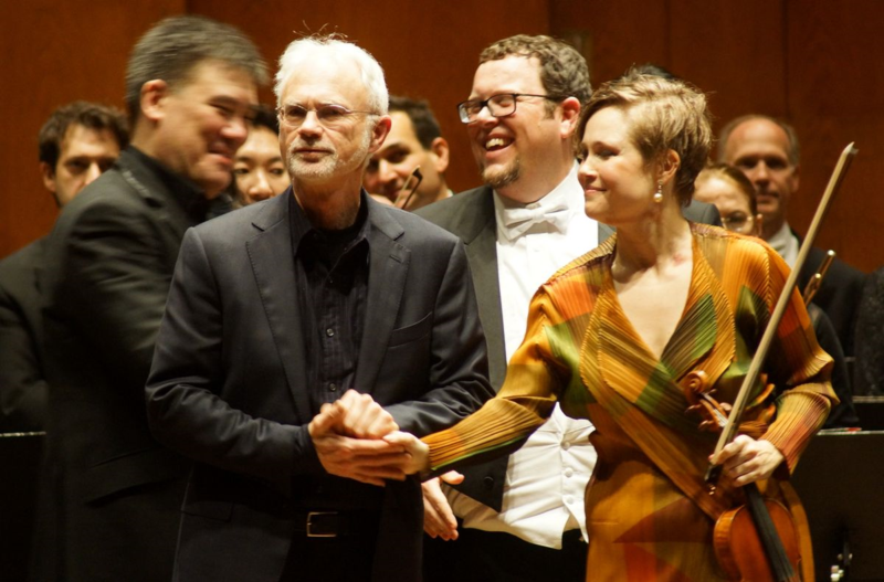 John Adams and Leila Josefowicz at the premier performance of  Scheherazade.2  in New York, 2015.