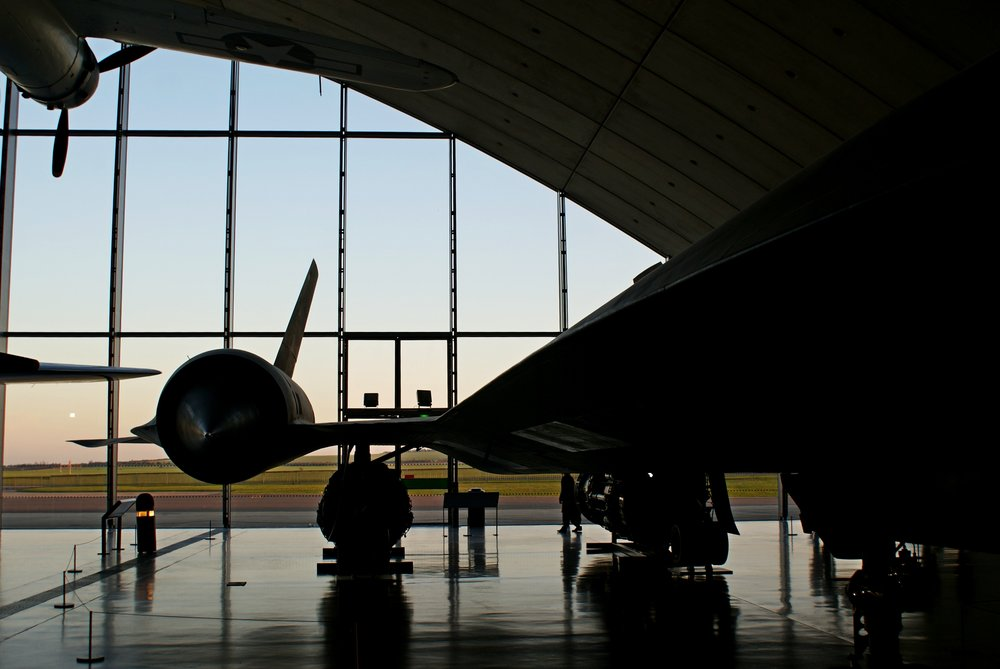 My photo of SR-71 Blackbird 962 at sunset in the American Muesum at IWM Duxford