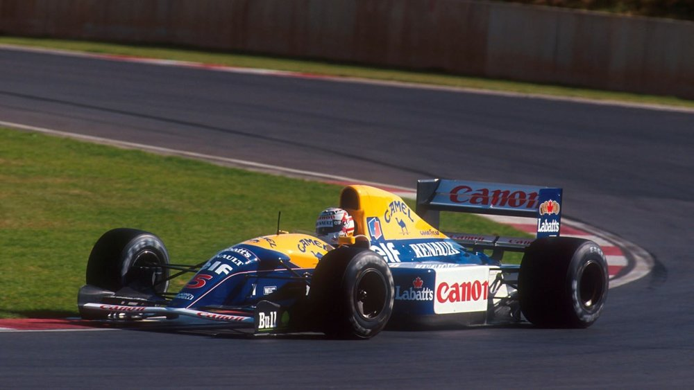 Nigel Mansell in the Williams FW14b