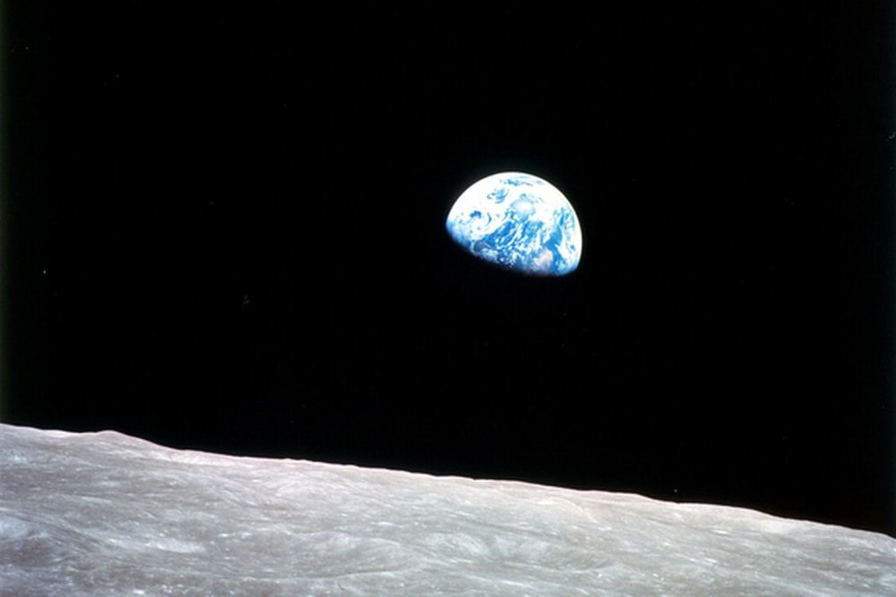 Earthrise taken by Bill Anders on Apollo 8